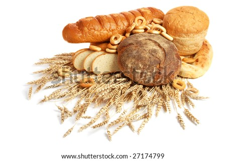 Wheat and bread - stock photo