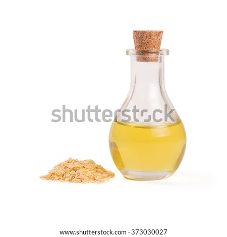 wheat germ oil - stock photo