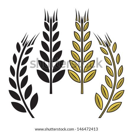 wheat icon - stock photo