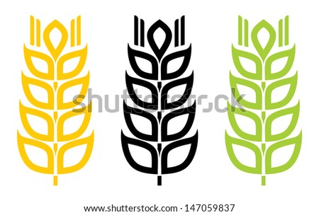 wheat sign - stock photo