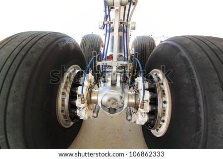 Wheel Aircraft - stock photo