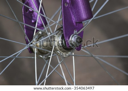 Wheel of the bicycle - stock photo