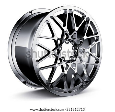 Wheel Rim isolated on white  - stock photo