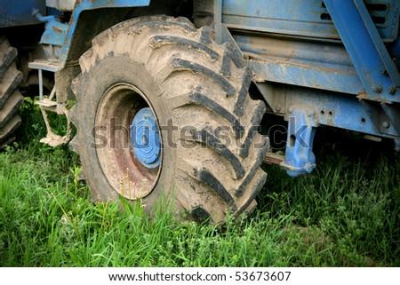 wheel tractor - stock photo