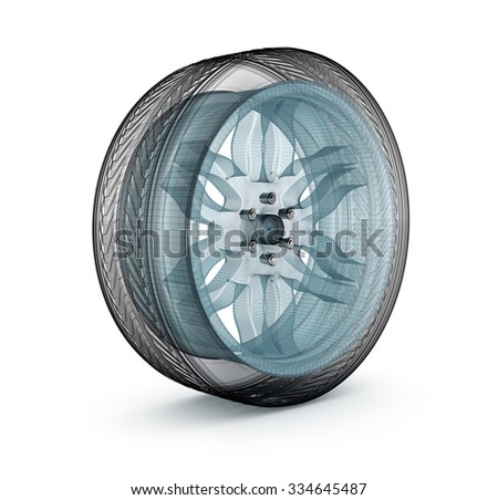 Wheel wire model. My own design. - stock photo