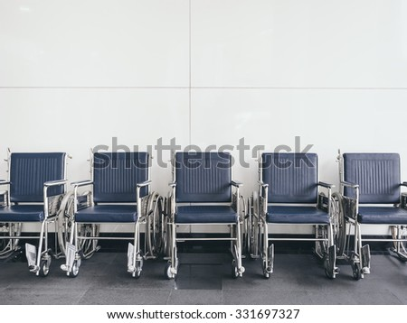 Wheelchair accessibility service in Hospital medical object - stock photo