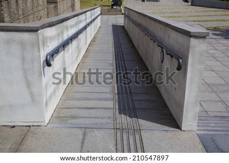 wheelchair ramp - stock photo