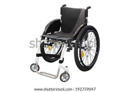 wheelchair under the white background - stock photo