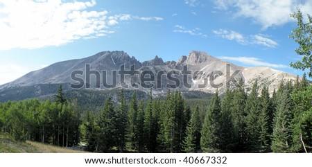 Wheeler Peak in Great Basin National park, Nevada - stock photo