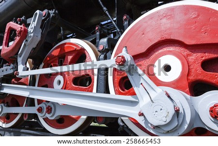 wheels of the old train. - stock photo