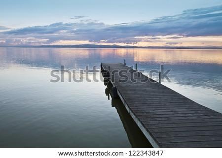 when the water turns orange - stock photo
