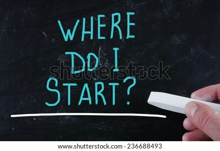 where do i start? - stock photo