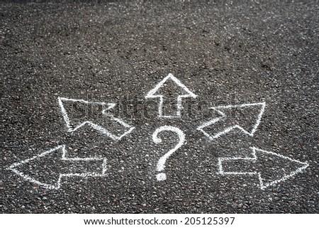 Where to? - stock photo