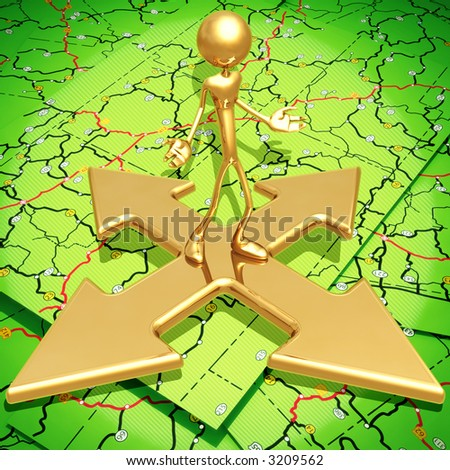 Which Direction - stock photo