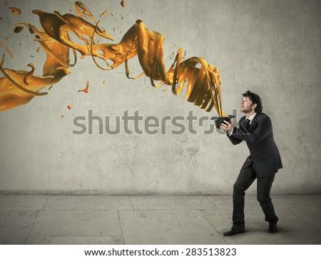 Whirl of magic - stock photo