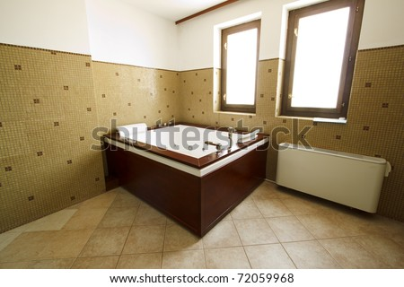 whirlpool bathtub - stock photo