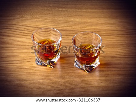 Whiskey Bourbon in a Glass - stock photo