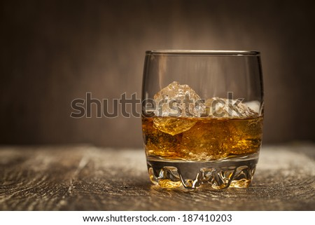 Whiskey drink - stock photo