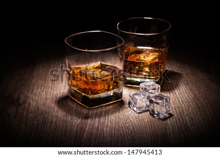 whiskey in glass - stock photo