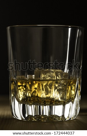 Whiskey on the rocks - stock photo
