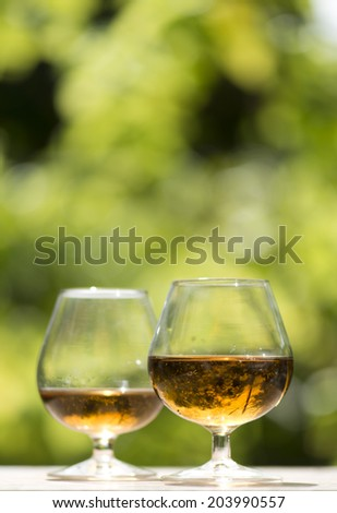 Whiskey with copy space - stock photo