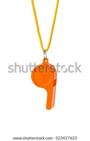 Whistle - isolated on white background - stock photo