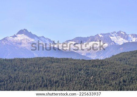Whistler mountain BC Canada - stock photo