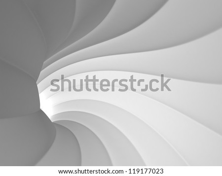 White Abstract Tunnel - stock photo