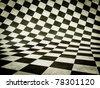 white and black cube background. 2D  illustration. - stock photo