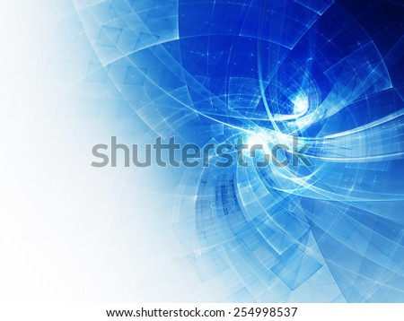 White and blue abstract background. - stock photo