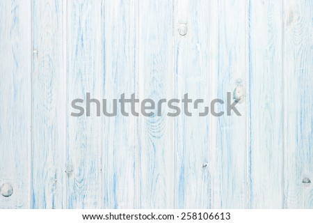White and blue wooden plank texture background - stock photo