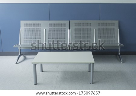 White and empty bed teaching hospital, construction - stock photo