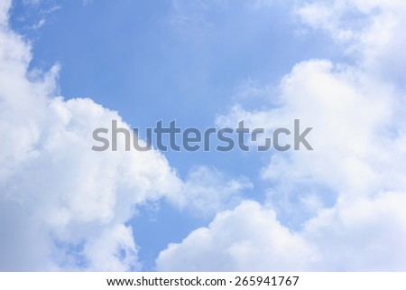 white and gray cloud with blue sky - stock photo