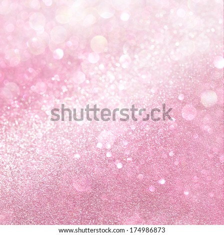 white and pink abstract bokeh lights. defocused background  - stock photo