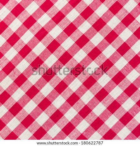 white and red checkered background close up - stock photo
