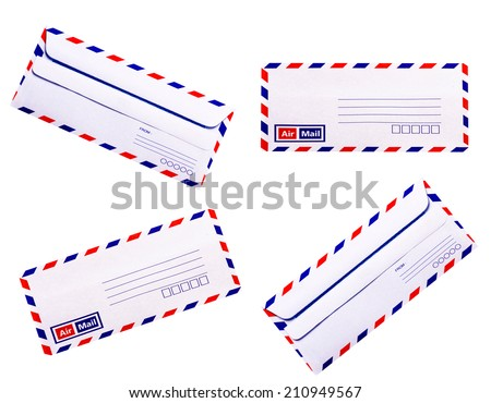 White and simple vintage Envelope - stock photo