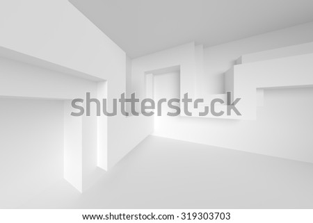 White Architecture Construction. Abstract Background - stock photo