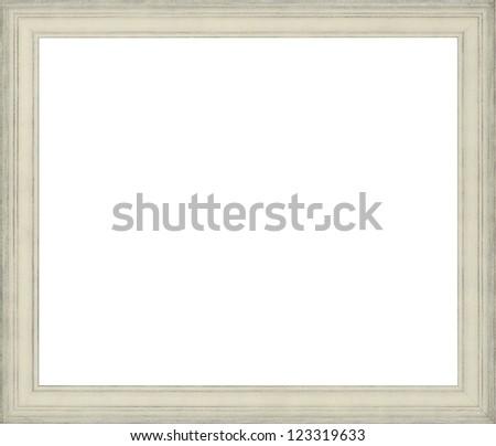white art picture frame - stock photo