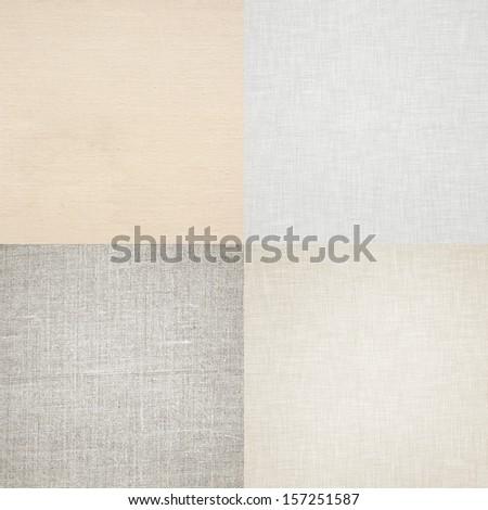 white background canvas texture - stock photo