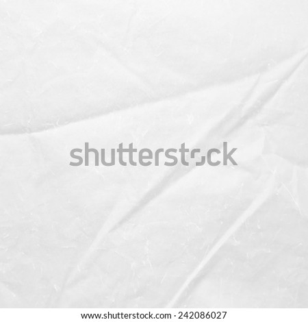 white background, creased paper texture - stock photo