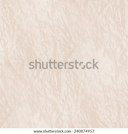 white background - crumpled, damaged canvas texture, seamless pattern - stock photo