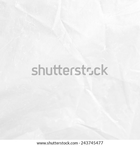 white background crumpled paper texture - stock photo