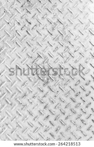 White Background of old metal diamond plate in silver color background - stock photo