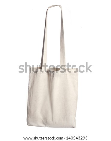 white bag isolated on a white background - stock photo