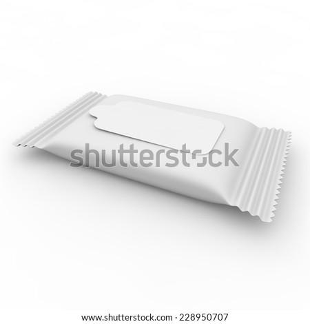 White bag with velcro for napkins - stock photo