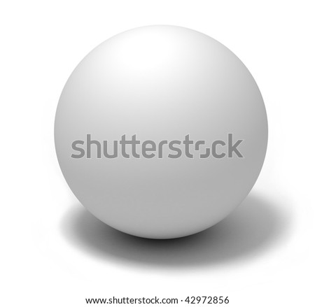 White Ball - stock photo