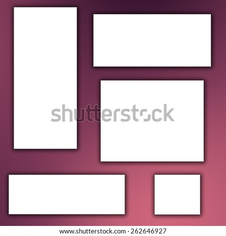 white banner on red background - stock photo