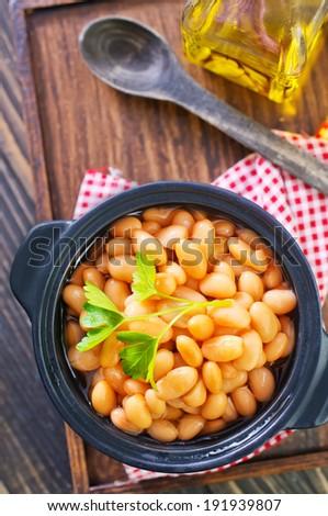 white beans - stock photo