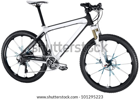 white bike - stock photo