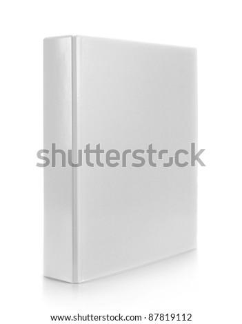 white binder on isolated white background - stock photo